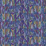 Безшовная картина с пестротканой кожей зебры Иллюстрация штока