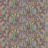 Безшовная картина с пестротканой кожей зебры Бесплатная Иллюстрация