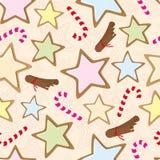 Безшовная картина с печеньями Стоковая Фотография RF