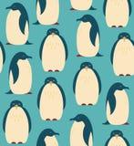 Безшовная картина с пингвинами Стоковое Изображение RF