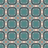 Безшовная картина с повторенными геометрическими диаграммами абстрактный ornamental предпосылки Мотив самоцветов иллюстрация штока
