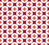 Безшовная картина с повторенными цветками и косоугольниками стоковое фото rf