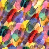 Безшовная картина с помарками щетки акварели Цвет акварели радуги на фиолетовой предпосылке Покрашенная рукой текстура усадьбы иллюстрация штока