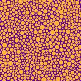 Безшовная картина с померанцовыми кругами Стоковое Изображение