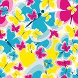 Безшовная картина с предпосылкой бабочки для вашего дизайна Стоковые Изображения