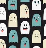 Безшовная картина с призраками Стоковая Фотография