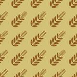 Безшовная картина с пшеницей Стоковое Фото