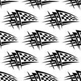 Безшовная картина с племенной татуировкой гонок Стоковые Фото