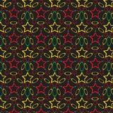 Безшовная картина с различными геометрическими диаграммами Стоковые Фото