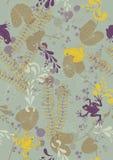 Безшовная картина с лягушками и пусковыми площадками лилии Стоковое Фото