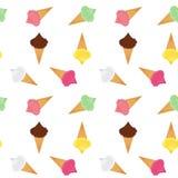 Безшовная картина с различным мороженым бесплатная иллюстрация