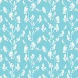 Безшовная картина с реалистическими графическими цветками - сладостный горох - ha Стоковые Изображения