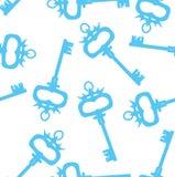 Безшовная картина с ретро ключами - vector иллюстрация Стоковые Изображения