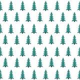 Безшовная картина с рождественской елкой Замороженный лес иллюстрация вектора