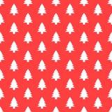 Безшовная картина с рождественской елкой Текстура Xmas для обоев или упаковочной бумаги Стоковая Фотография RF