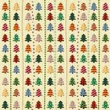 Безшовная картина с рождественскими елками иллюстрация вектора