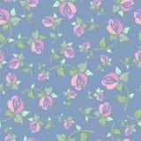 Безшовная картина с розовыми розами бесплатная иллюстрация