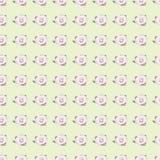 Безшовная картина с розой пинка на предпосылке салата Стоковое Изображение
