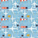Безшовная картина с самолетами 4 пассажира Стоковое Фото