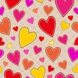 Безшовная картина с сердцами Стоковое фото RF