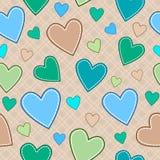 Безшовная картина с сердцами Стоковое Фото