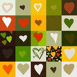 Безшовная картина с сердцами, иллюстрация вектора Стоковые Фотографии RF