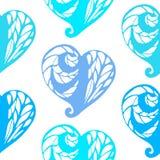 Безшовная картина с сердцами шнурка Стоковое Изображение RF