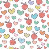 Безшовная картина с сердцами Стоковые Изображения RF