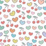Безшовная картина с сердцами Стоковое Изображение