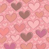 Безшовная картина с сердцами Стоковые Фото