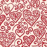 Безшовная картина с сердцами Стоковые Изображения