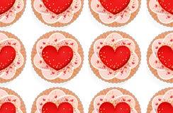 Безшовная картина с сердцами Стоковая Фотография RF