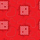 Безшовная картина с сердцами иллюстрация вектора