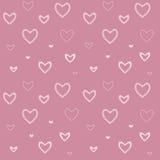 Безшовная картина с сердцами ` s валентинки мозаики иллюстрация вектора