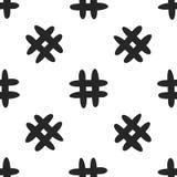 Безшовная картина с символом hashtag Нарисовано вручную иллюстрация штока