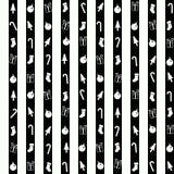 Безшовная картина с символами рождества Стоковое Фото