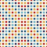 Безшовная картина с симметричным геометрическим орнаментом Повторенная конспектом яркая предпосылка квадратов Обои мозаики Стоковые Фото