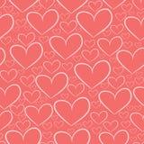 Безшовная картина с силуэтами сердец Стоковое Фото