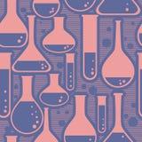 Безшовная картина с склянкой Стоковая Фотография RF