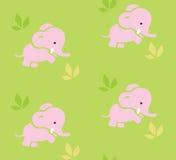 Безшовная картина с смешными слонами Стоковая Фотография