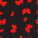 Безшовная картина с смычком Стоковые Изображения RF