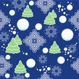 Безшовная картина с снежинками, снег зимы. Vec Стоковые Фотографии RF