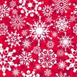 Безшовная картина с снежинками Стоковые Фото