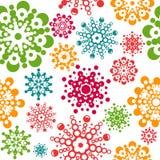 Безшовная картина с снежинками Стоковое Изображение RF