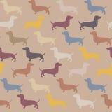 Безшовная картина с собакой Стоковые Фото
