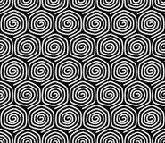 Безшовная картина с спиральными элементами. Стоковые Изображения