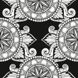 Безшовная картина с стилизованными цветками предпосылка этническая Стоковые Фотографии RF