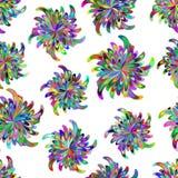 Безшовная картина с стилизованными цветками Стоковое Фото