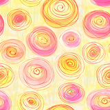 Безшовная картина с стилизованными лютиками Стоковая Фотография