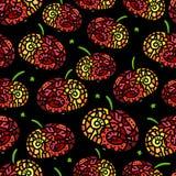 Безшовная картина с стилизованным яблоком Стоковые Изображения RF